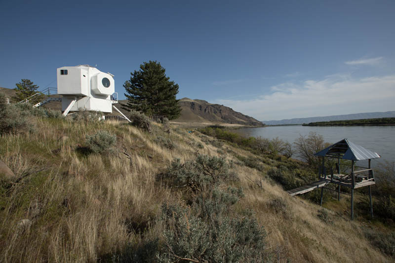 This tiny home is ready for outer space house of the for Small room 9 paging ground control