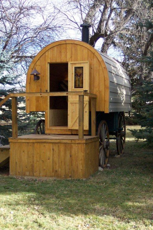 Sheep Wagon outfitted with rubber tires or replaced entirely this one was found in miles city mt transported to wyoming and restored to its sheep wagon glory An 1800s Sheep Wagon Turned Tiny Home Zillow Porchlight