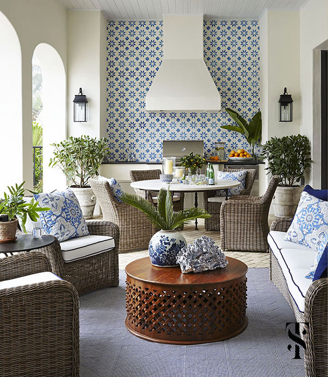 Thornton Was Also Tasked With Seamlessly Blending The Mediterranean  Architecture Of The House With Classic Styling And Relaxed, Casual  Furnishings To Create ...