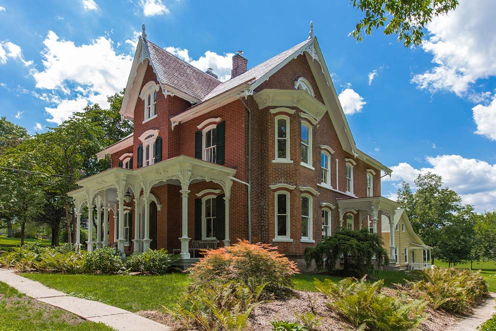 Gothic Revival Homes house of the week: a gothic revival mansion on an old stagecoach