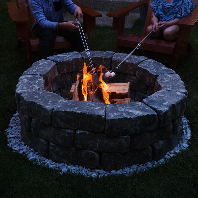 gather a couple of adirondack chairs some firewood a few friends and campfire treats to get full use out of your new fire pit