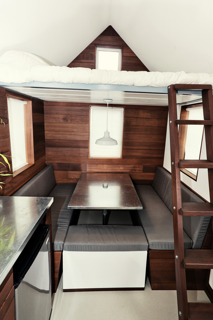 House of the week 150 square feet on wheels for Leaf house tiny house