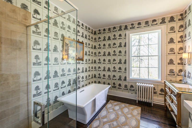 Master Bathroom History 1800s estate proves history is anything but drab – house of the