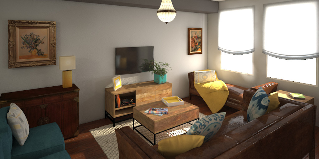 VR Rendering Of Living Room