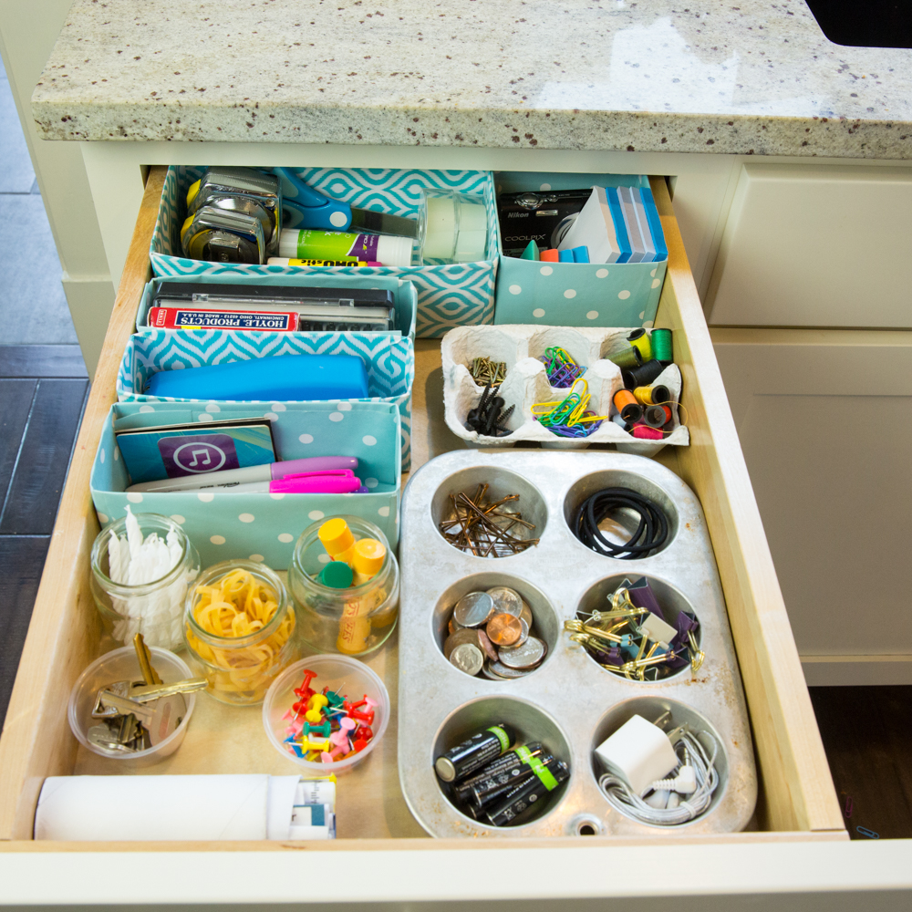 Organization Ideas For Junk Drawers: Transform Your Junk Drawer (Without Spending A Dime