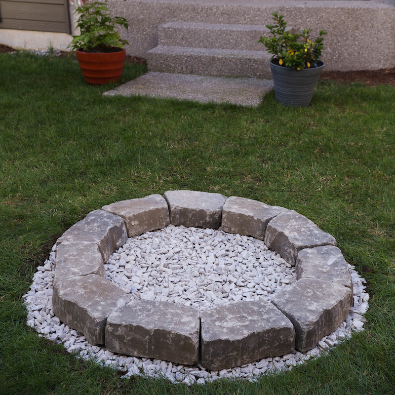 For extra safety, you have the option to put an inner layer of firebricks.  Though you don't need to use mortar if the bricks are heavy enough to make  a ... - DIY Backyard Fire Pit: Build It In Just 7 Easy Steps