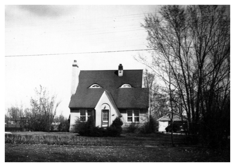black and white photo of historic home