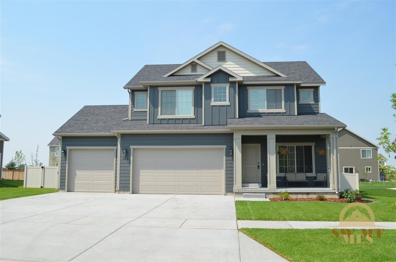 this newly built 4 bedroom 3 bathroom home has an open floor plan