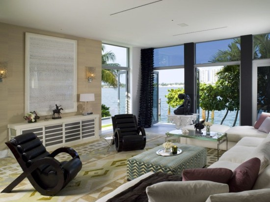 casual lakefront living room ideas 8 outstanding miami waterfront home interior designs