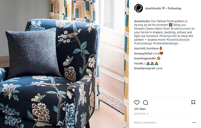 floral print chair with pillow