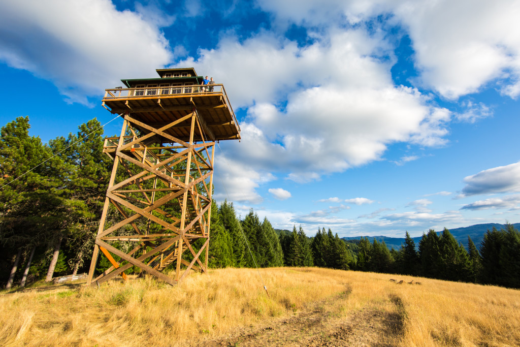 Putting down roots 40 feet up life in a fire lookout for Fire tower cabin plans