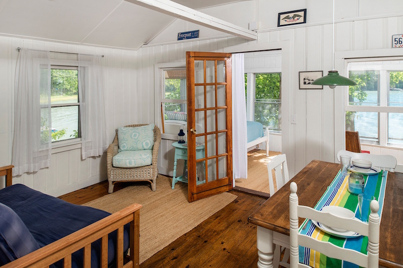 The gorgeous  sun drenched interior of this 1 bedroom  1 bathroom home. Teensy Waterfront Homes for Sale   Zillow Porchlight