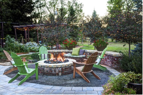 A Crushed Gravel Patio By Watermark Landscape Provides An Area To Relax On  Warm Summer Nights