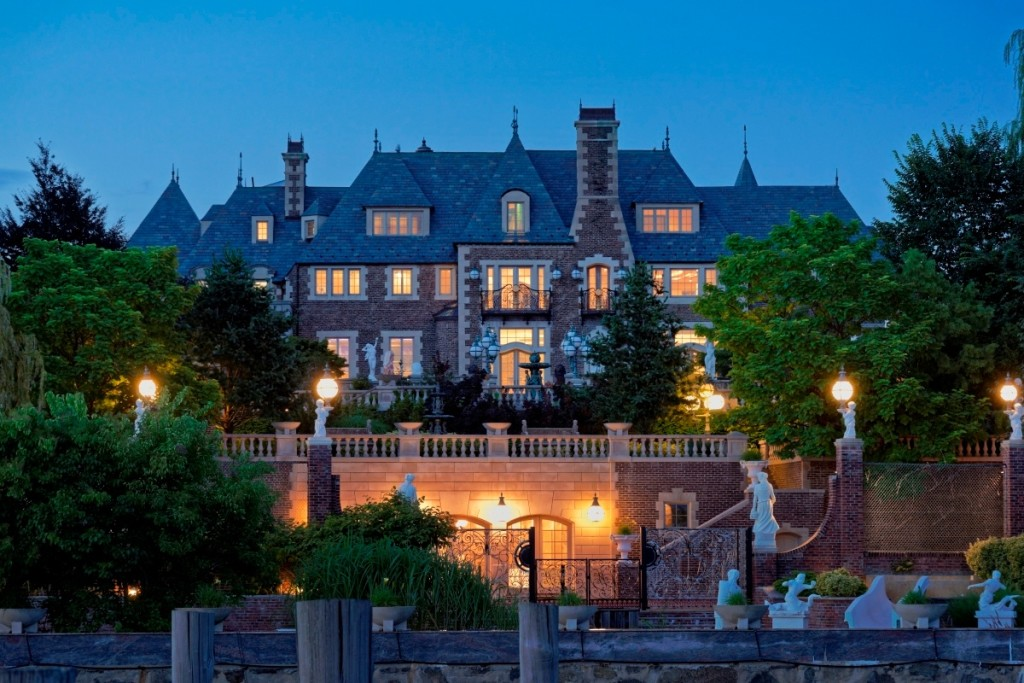 ... contemplating all things creepy and crawly than a gated, eight-acre  estate with views of Manhattan? The compound includes 60,000 square feet of  Gothic ...