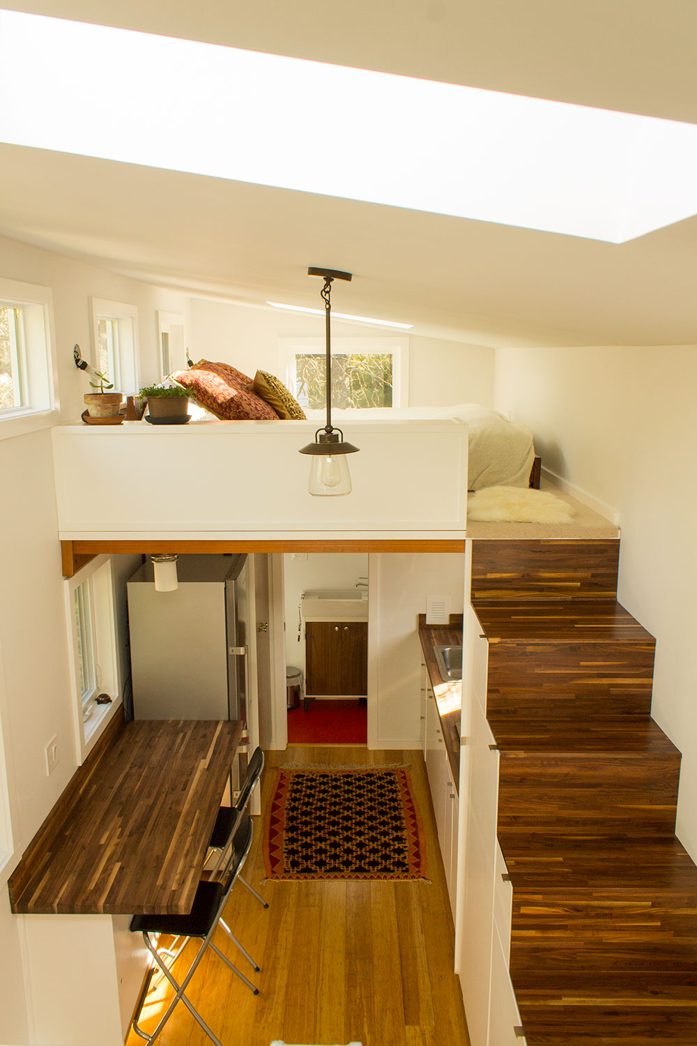 Hikari Box Tiny House Interior From Loft