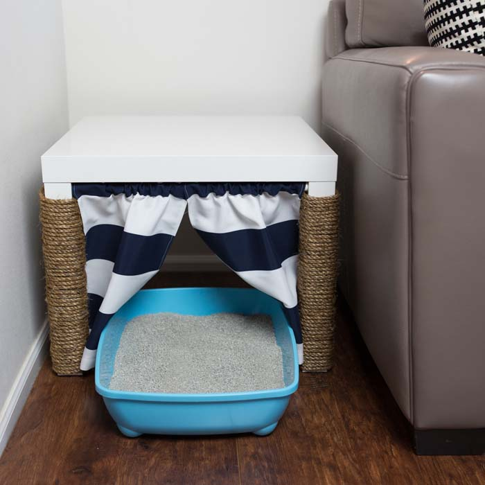 No Place For A Litter Box Create A Kitty Corner