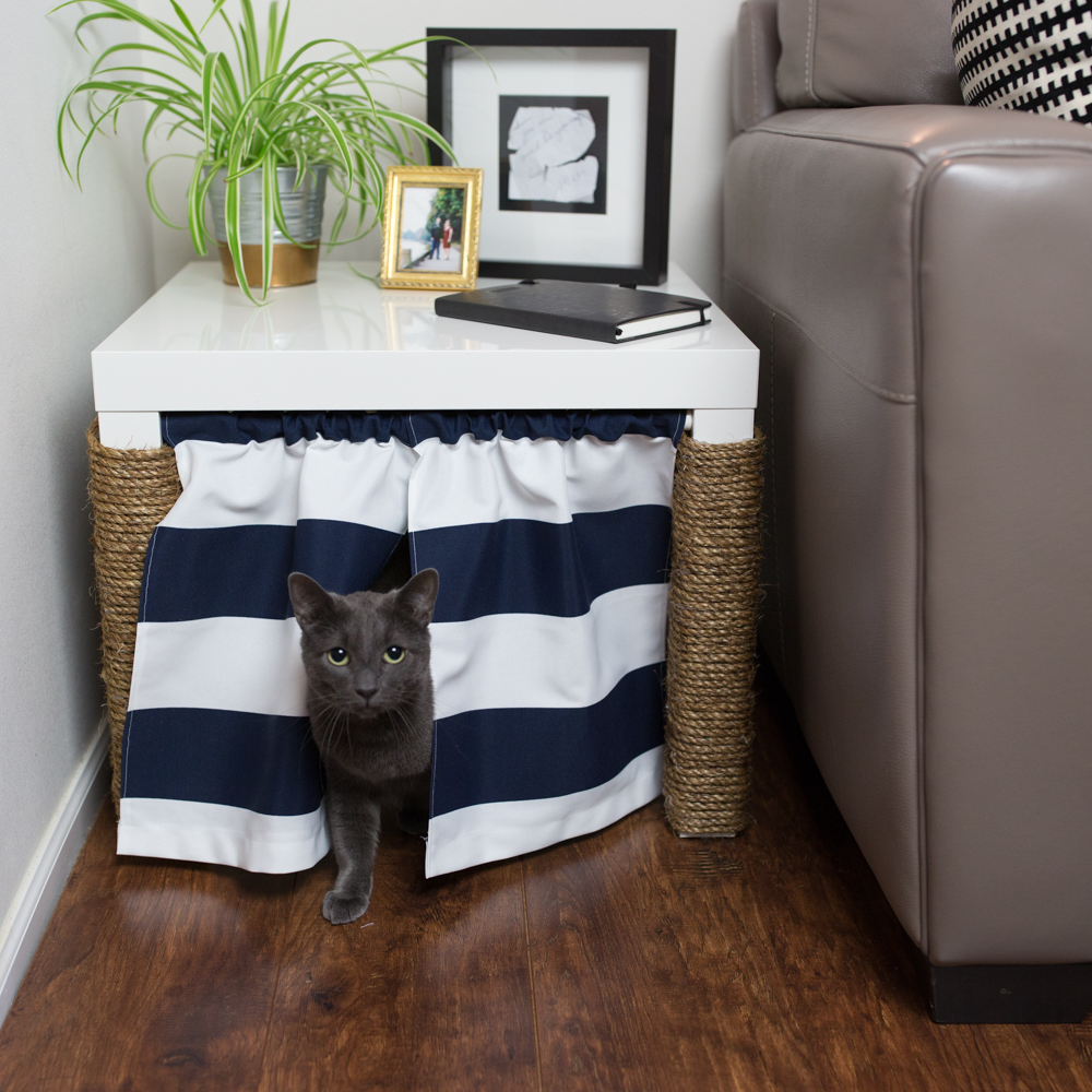 home curtain bench of litter furniture box decor cat around a image type