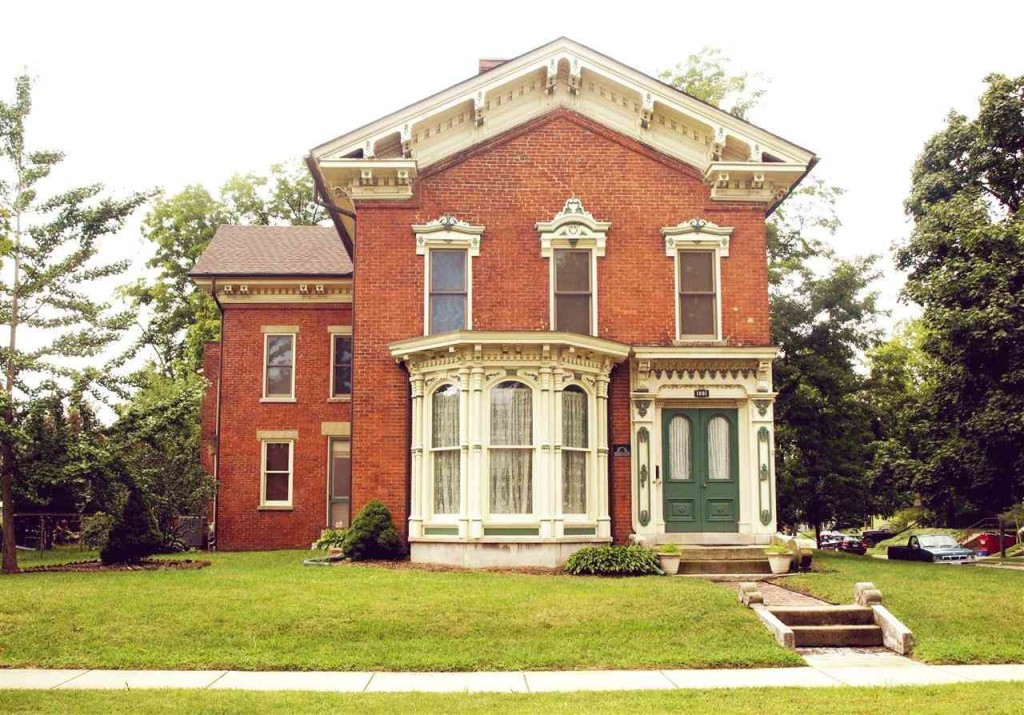 Built In 1858 This Italianate Style Victorian Home Is Near Purdue University In Indiana It Has  Baths Hickory Cabinets In The Kitchen And A