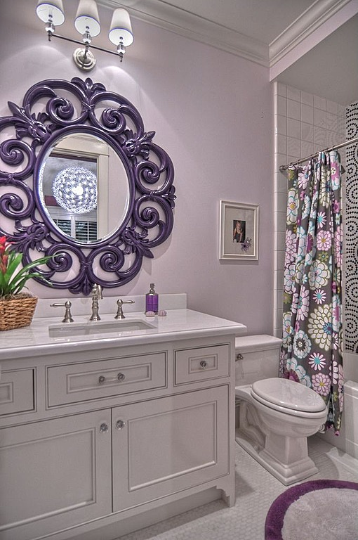 purple lavender bathroom