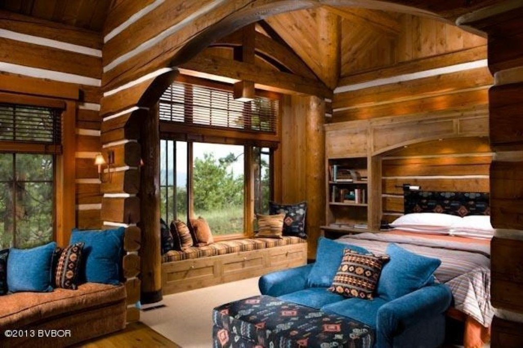 House of the week montana mansion built lincoln log style for One bedroom cabins to build