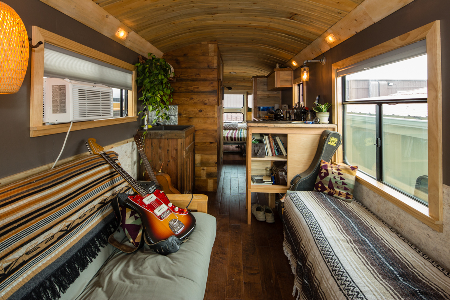 Wild ride turning school buses into homes on wheels for Best old school house