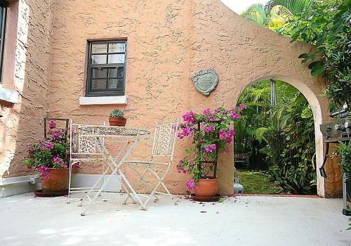 Tucked Behind A Sunny Patio, A Guest Apartment Could Serve As A 1 Bedroom  Rental.