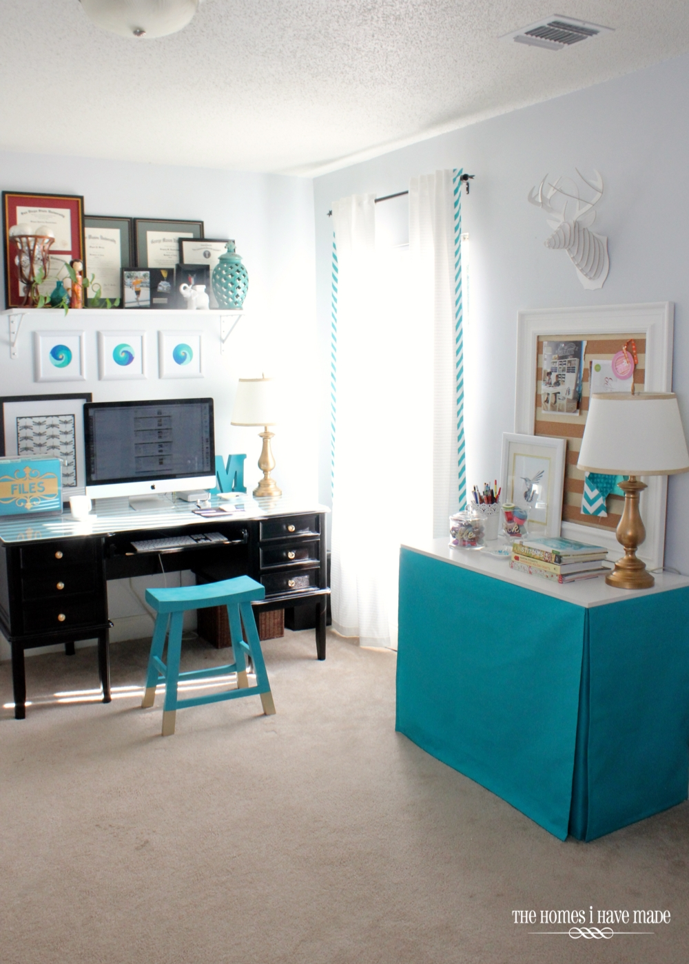 Before After Cluttered Office Goes Chic