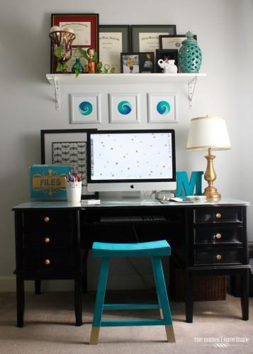 Vintage Office desk after
