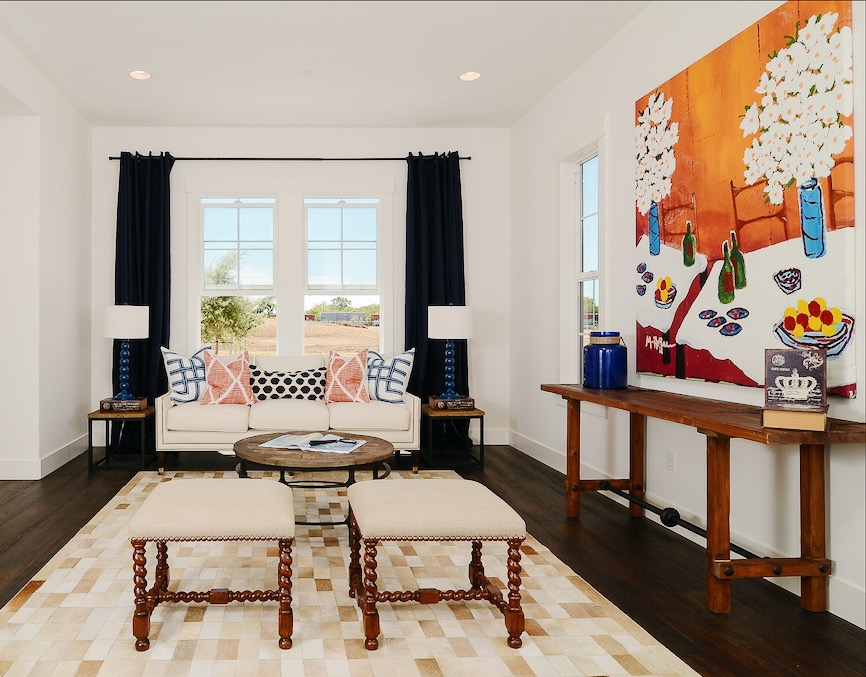 White Walls Work With Neutral Upholstery To Ground The Room And Help Colorful Artwork Pop Photo Courtesy Of Kerrie Kelly Design Lab