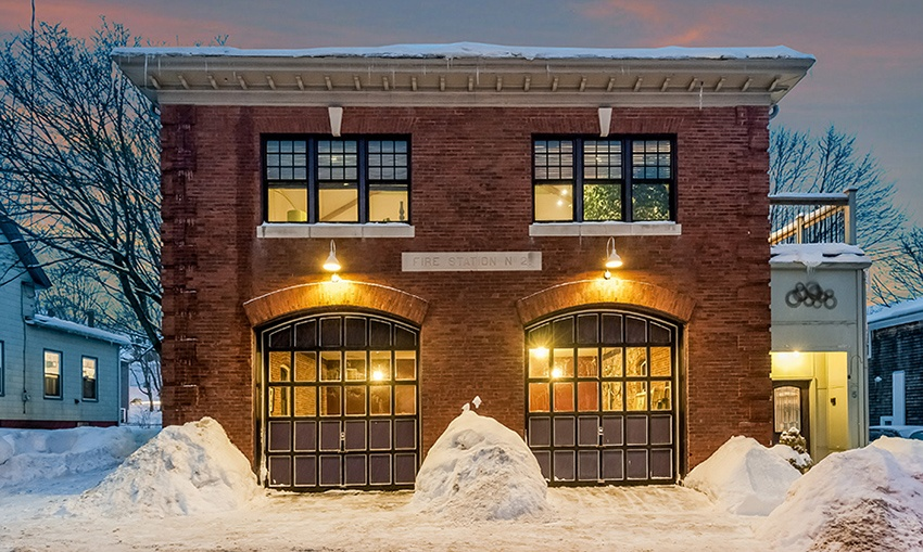 A Century Old Firehouse Turned Contemporary Loft Home