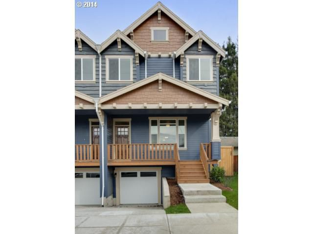 Portland  OR. For Sale  Town Houses With 3 or More Bedrooms