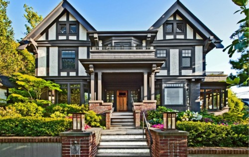 Described in the listing as a beautiful home dressed in refined luxury and  class, this Capitol Hill house combines Tudor and craftsman elements to  create ...