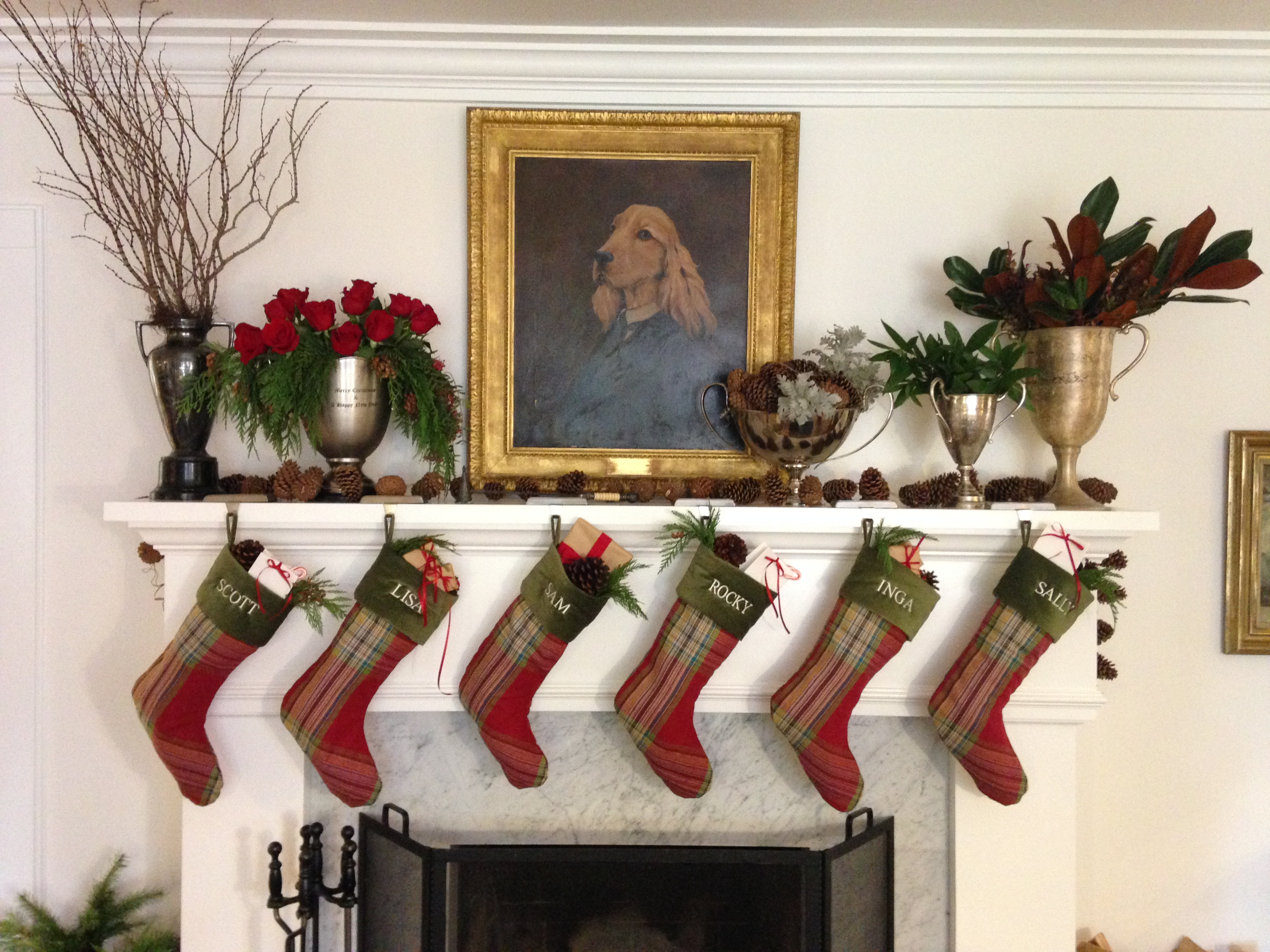 Holiday Decorating Ideas For Small Spaces Part - 37: Celebrate Stockings