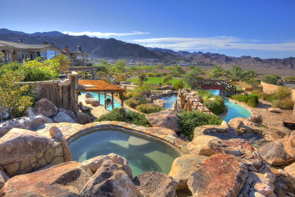 Inside Luxury Mansions house of the week: a desert mansion with a lazy river - zillow