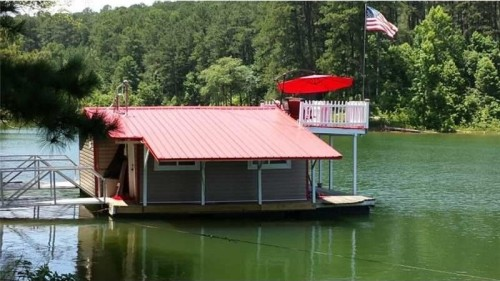 With A Balcony Overlooking Stamp Creek, This Floating Cabin Offers A Great  Way To Swim, Fish Or Just Relax. The Property Is Being Sold Fully Furnished  With ...