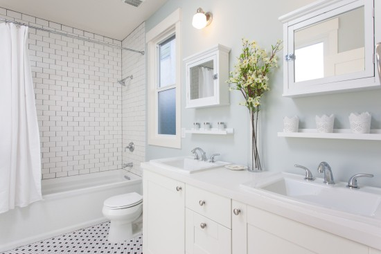 all white bathrooms ideas american builders episode 6 before amp after 15370