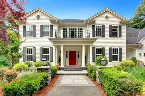 Set back behind a gated entrance on a private, 5.6-acre lot, this  Woodinville home was custom-built in 2002 to reflect the colonial style  while infusing ...