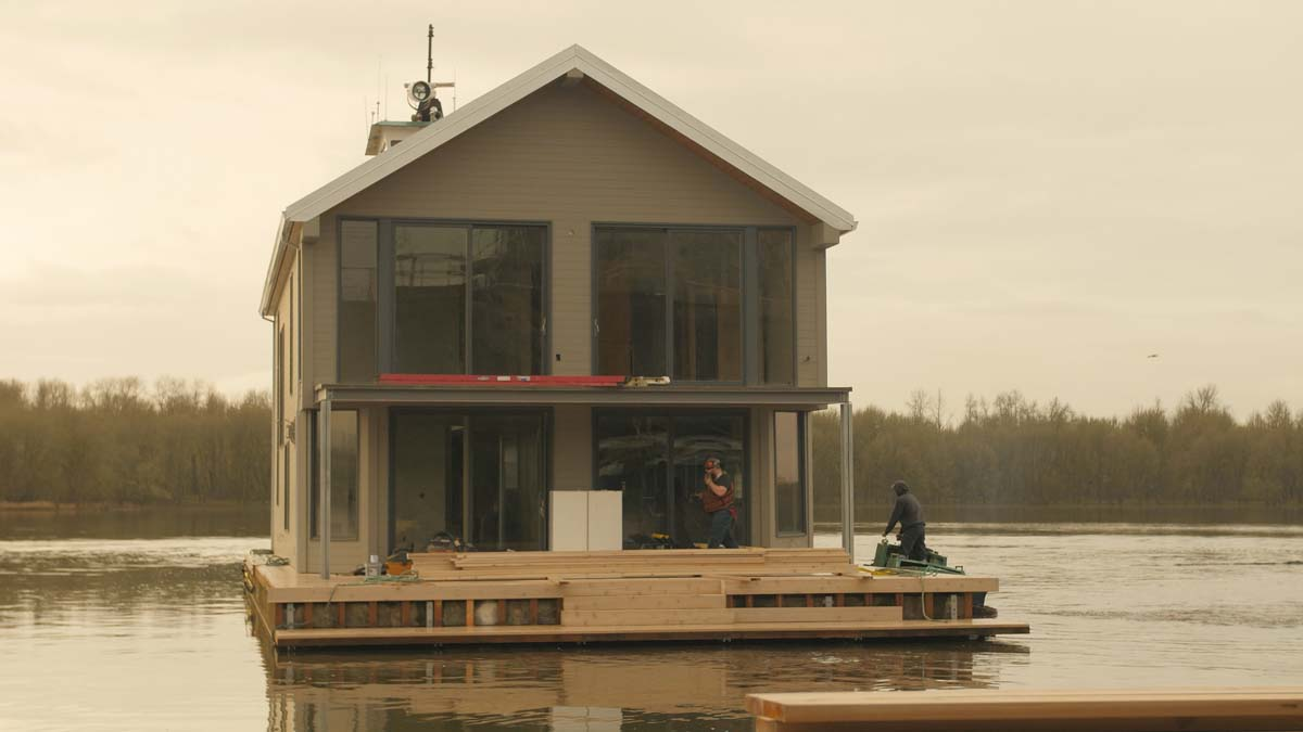 Meet floating home builder marc even for Building a floating home