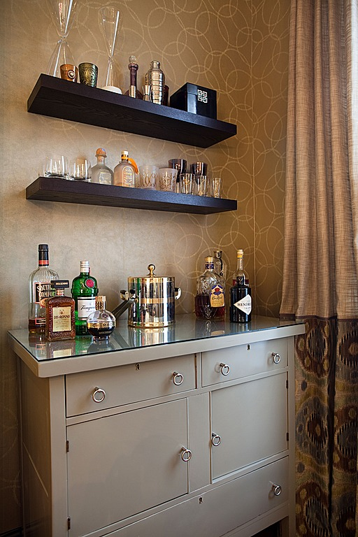 an old oak washstand gets a new purpose as a bar in eric ross interiors design - Ross Home Decor