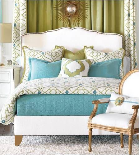 Pale Blue And Gold Bedroom - Costa-Maresme.com