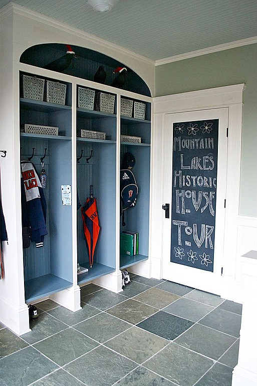Add Chalkboard Paint To The Inside Of A Door Panel In A Mudroom By Carisa  Mahnken