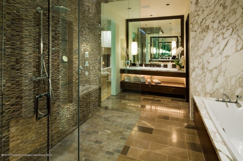 Blending in how to bring tile and stone into a room for Show me bathroom designs