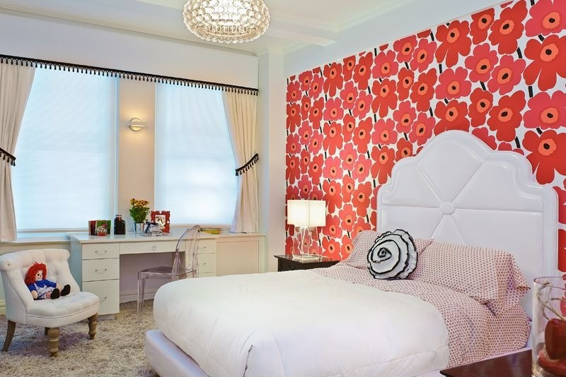 New contemporary kids bedroom with wallpaper i g IS puhnfukd