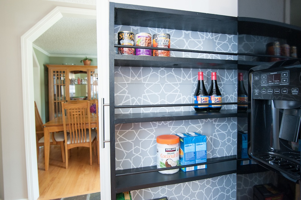 The space saving rolling pantry a diy tutorial for Cost to build a pantry
