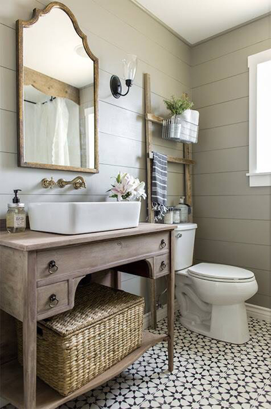 8 tags Country Full Bathroom with DIY Wood Plank Walls  Blanton Rectagular Vessel Sink  Vessel Sink. Country Bathroom Ideas   Design  Accessories  amp  Pictures   Zillow