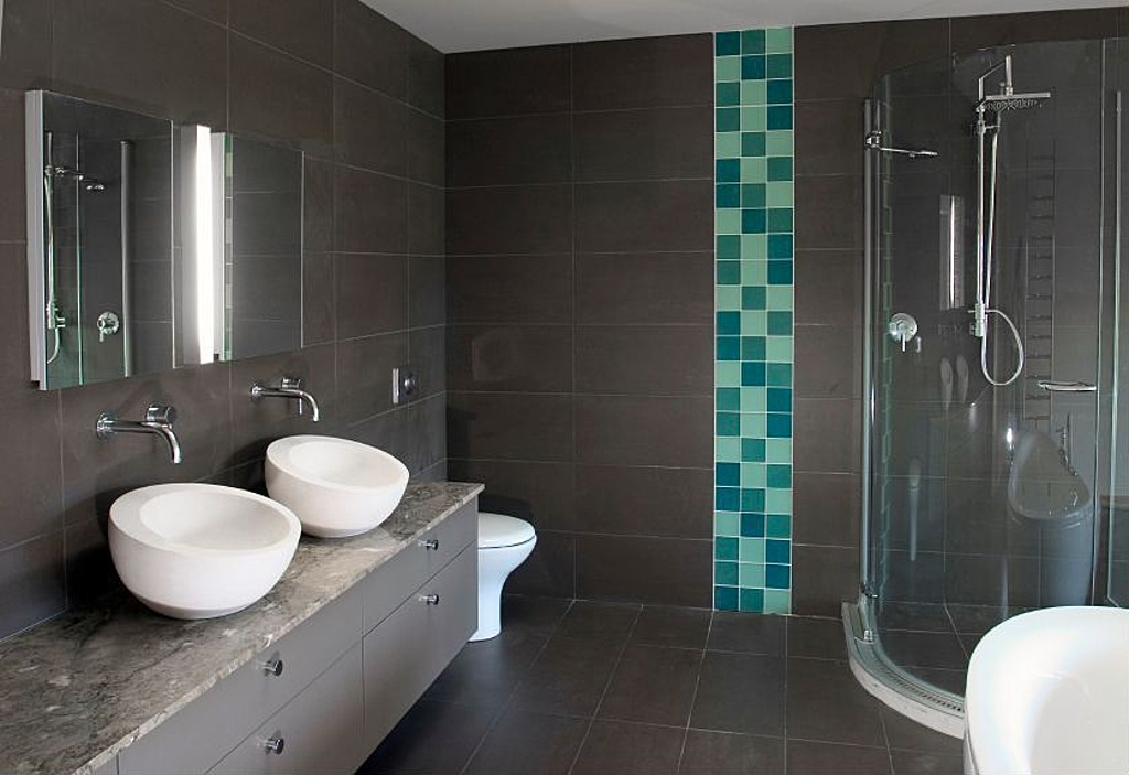 The look for less modern bathrooms for High end bathroom designs