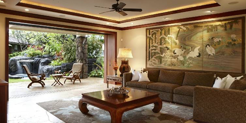 beyonce living room house of the week hawaiian estate hosted 10658