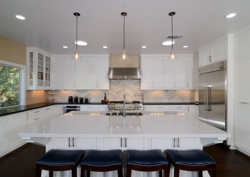 Drop Lights Are An Upgrade From The Standard Builder Installed Kitchen  Lights. Source: Kerrie Kelly
