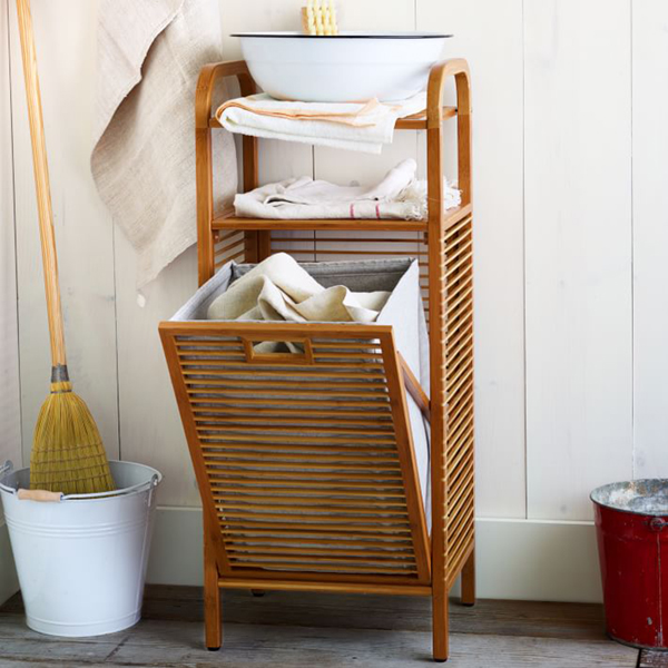 Nice Bamboo Laundry Hamper West Elm