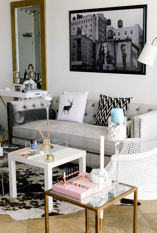 Room Of The Week Girly Glam Living Room